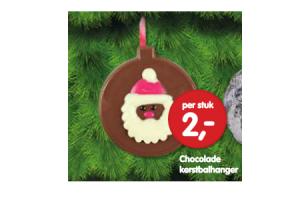 chocolade kerstballhanger