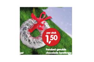 fondant gevulde chocolade kerstkrans