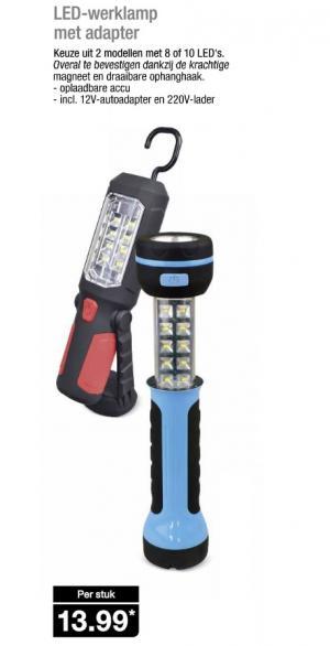 led werklamp met adapter