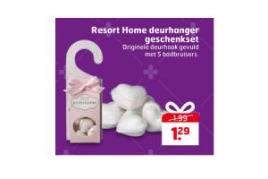 resort home deurhanger geschenkset