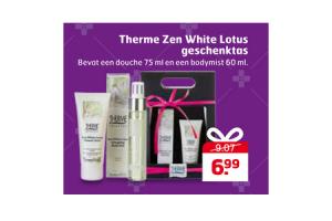 therme zen white lotus geschenktas