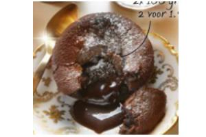 korengoud chocolade moelleux