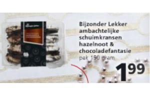 bijzonder lekker ambachtelijke schuimkransjes hazelnoot en chocoladefantasie