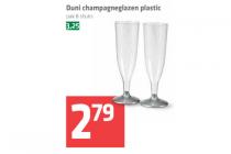 duni champagneglazen plastic