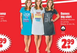 dames big shirt