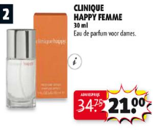 clinique happy femme