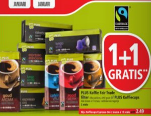 plus koffie fairtrade