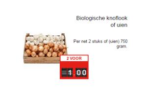 biologische knoflook of uien