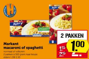 markant macaroni of spaghetti