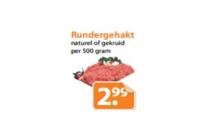 rundergehakt naturel of gekruid per 500 gram
