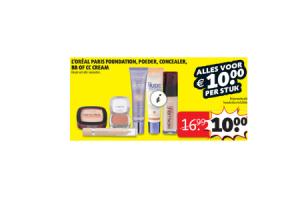 loreal paris foundation poeder concealer bb of cc cream