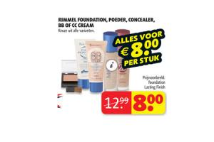 rimmel foundation poeder concealer bb of cc cream