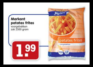 markant patates frites zak