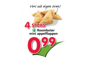 roomboter mini appelflappen
