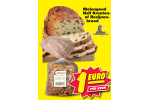 molengoud half krenten of rozijnen brood