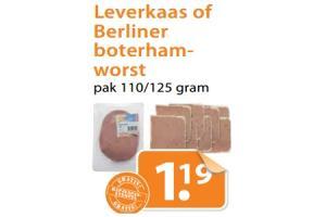 leverkaas of berliner boterhamworst