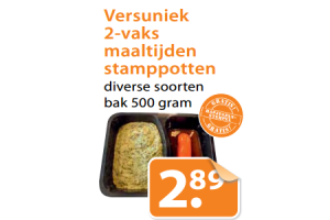 versuniek 2 vaks maaltijden stamppotten