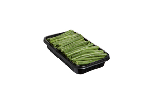 haricots verts of peulen verpakt