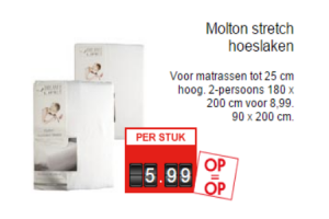 molton stretch hoeslaken
