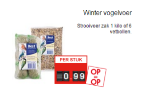 winter vogelvoer
