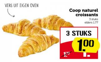 coop naturel croissants