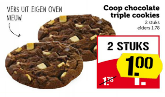 coop chocolate triple cookies