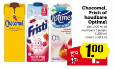 chocomel fristi of houdbare optimel