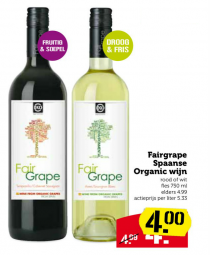 fairgrape spaanse organic wijn