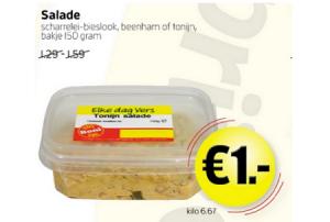 salade scharrelei bieslook beenham of tonijn