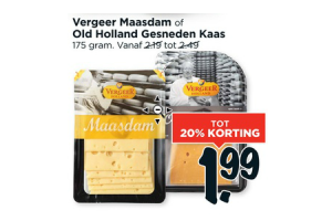 vergeer maasdam of old holland gesneden kaas