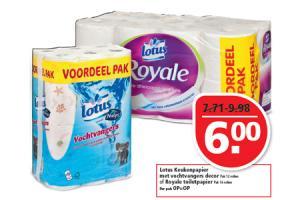lotus keukenpapier met vochtvangers decor of royale toiletpapier