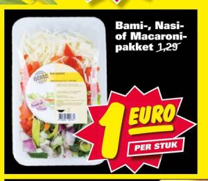 bami  nasi  of macaronispaghetti pakket