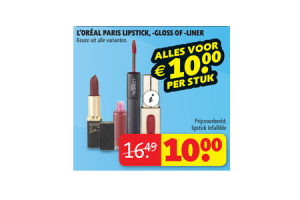 loreal paris lipstick  gloss of  liner