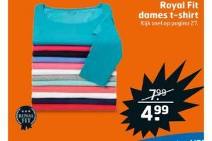royal fit dames t shirt