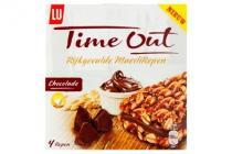 lu time out rijkgevulde mueslirepen chocolade