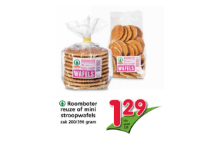 roomboter reuze of mini stroopwafels zak 200  390 gram