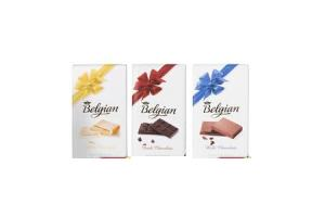 belgian chocolate white pure milk