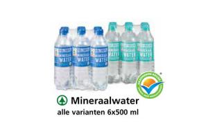 mineraalwater alle varianten 6x500 ml