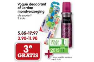 vogue deodorant of jordan mondverzorging