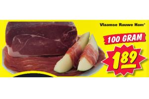 vlaamse rauwe ham