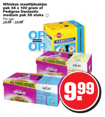 whiskas maaltijdzakjes of pedigree dentastix medium