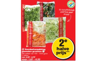 hoogvliet gesneden groenten