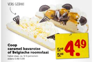 coop caramel bavaroise of belgische roomvlaai