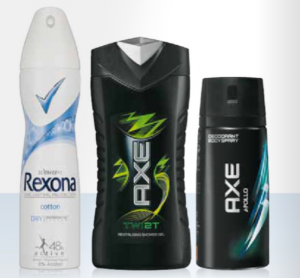 axe deodorant douchegel of shampoo of rexona deodorant