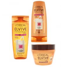 elvive extraordinary oil shampoo cremespoeling en masker