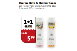 therme bath  shower foam