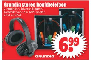 grundig stereo hoofdtelefoon