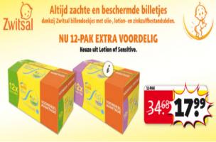 12 pack zwitsal billendoekjes lotion of sensitive