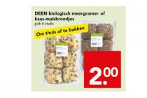 biologische meergranen  of kaas maisbroodjes