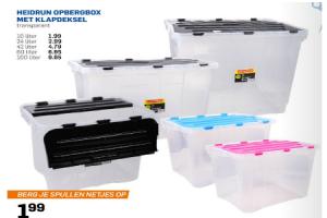 Heidrun opbergbox transparant met klapdeksel vanaf 1 99 for Action opbergbox